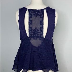 Free People Tops - Free People Pinafore Tank in Midnight